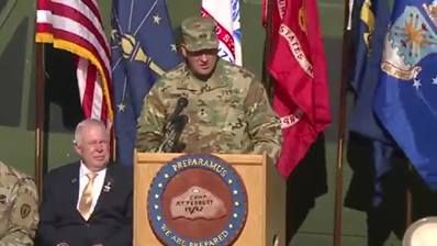 Vice President-elect Mike Pence joins the Indiana National Guard and the Indiana Dept. of Veterans' Affairs at a #VeteransDay ceremony.