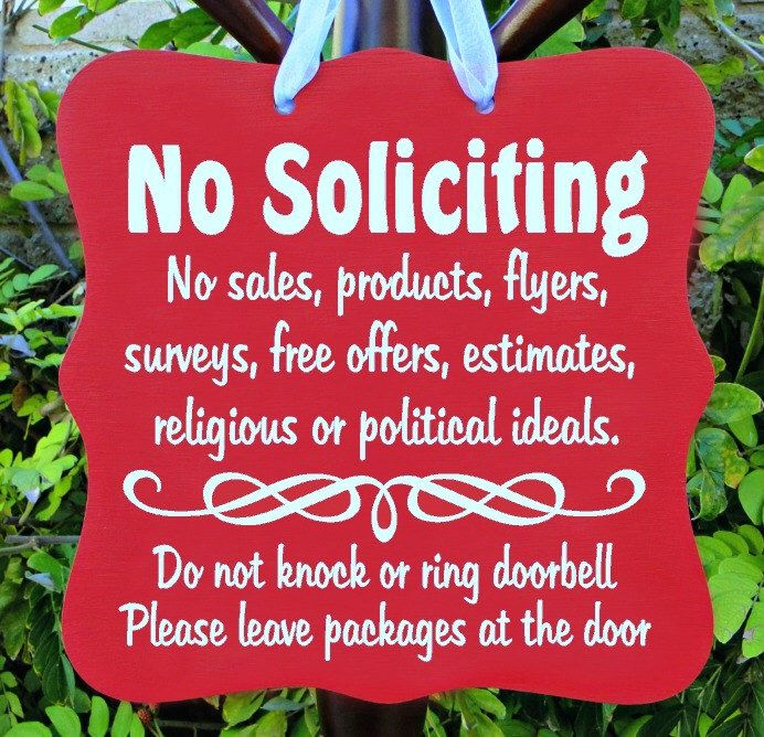 No Soliciting Sign, No Sales, Do Not Disturb, Front Door, Door Hanger, Home Decor, Custom Order, Wood Sign by Shambalena on Etsy https://www.etsy.com/listing/466650715/no-soliciting-sign-no-sales-do-not