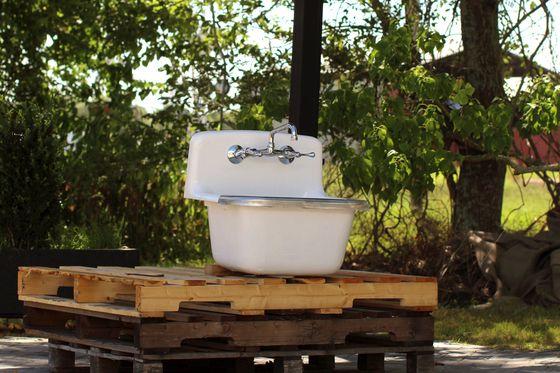 Vintage Style Utility Sink Deep Basin Dead Stock Cast Iron Porcelain Matte White Farm Sink