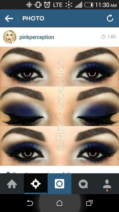 Royal Blue Smokey Eye                                                                                                                                                                                 Más