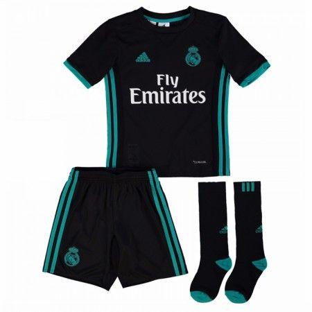 Real Madrid Udebanesæt Børn 17-18 Kort ærmer #Billige Fodboldtrøjer