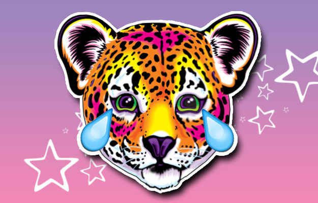 Cute Leopard Face With Tears Of Joy: