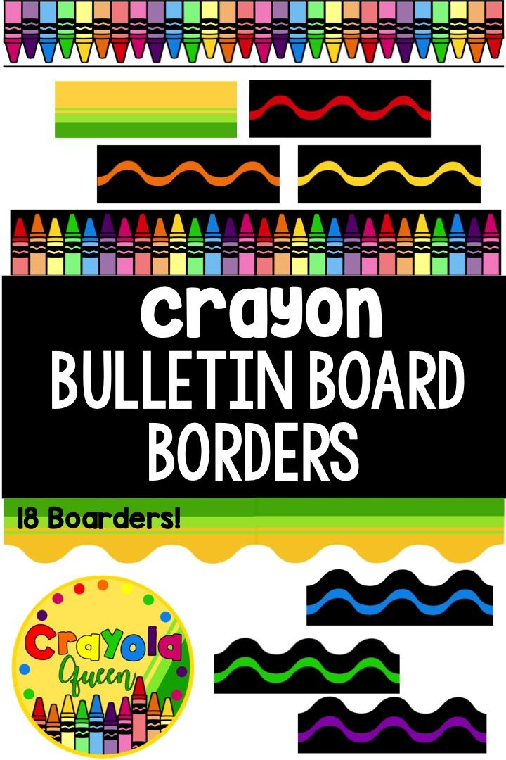Crayon Bulletin Board Borders Crayon Bulletin Boards Bulletin