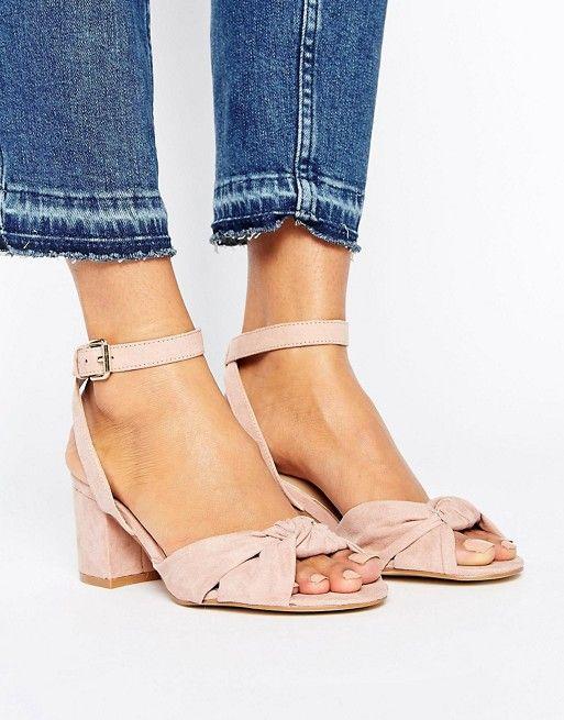 asos knot front block heel sandals