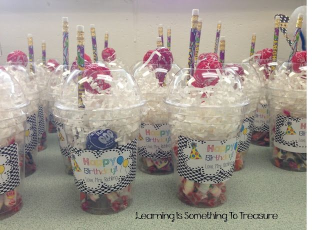Birthday Gift Baskets For College Students : First i made these birthday cups instead of goody