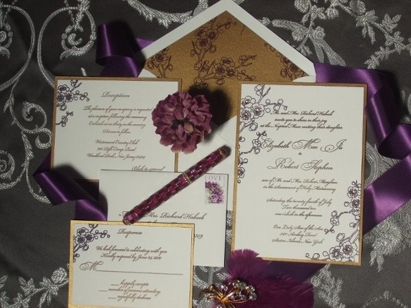 Purple And Gold Wedding Invitations: 80 Best WEDDING: Purple & Gold Images On Pinterest