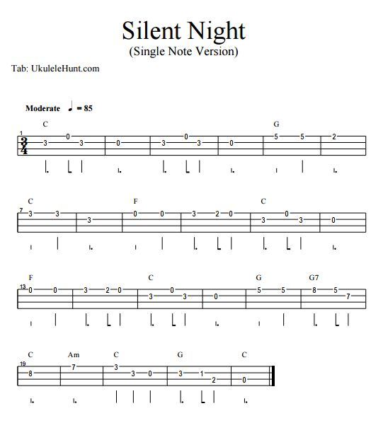 Silent Night Ukulele Chords