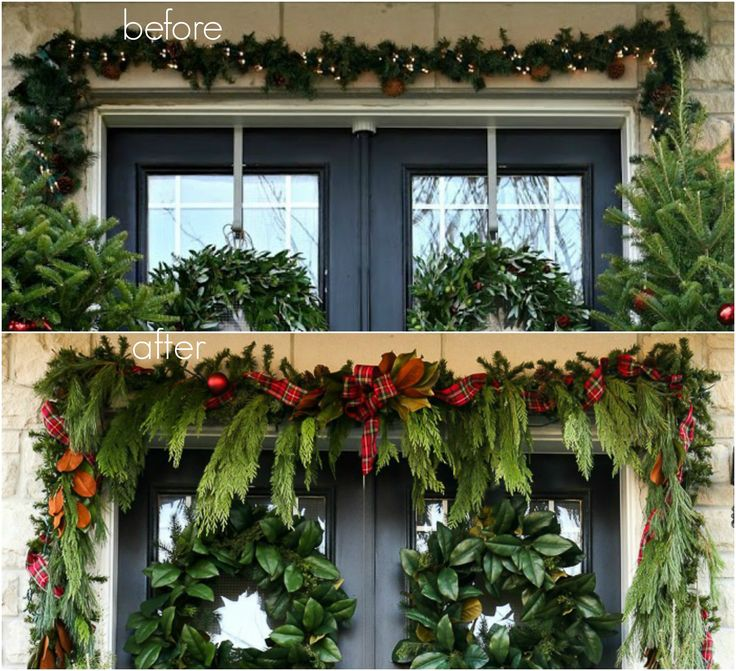 Craftberry bush a garland hack and how to make and hang for Outdoor decorating hacks