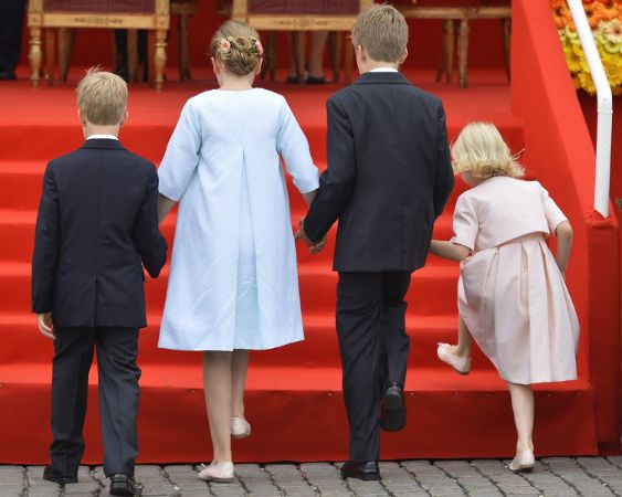 Belgian National Day 2014.....Posted on July 21, 2014 by HatQueen....Queen Mathilde, July 21, 2014 in Fabienne Delvigne | Royal Hats