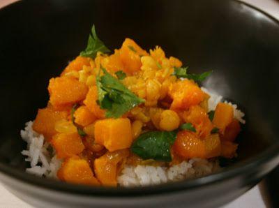 SMASKENS.NU: Veckans vego: curry på gula ärtor och ugnsbakad butternut squash