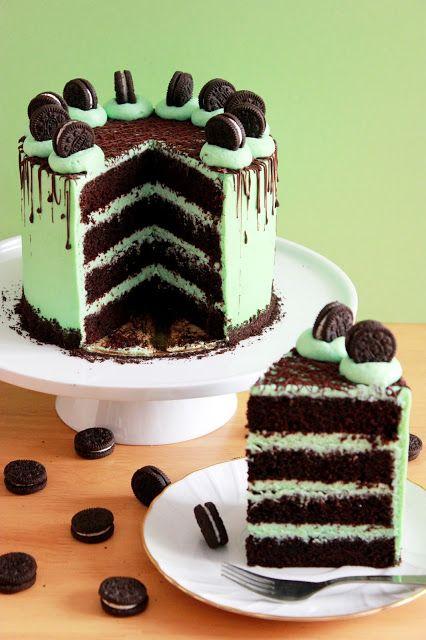 Tarta de Oreo, chocolate y menta / Oreo Chocolate Mint Cake