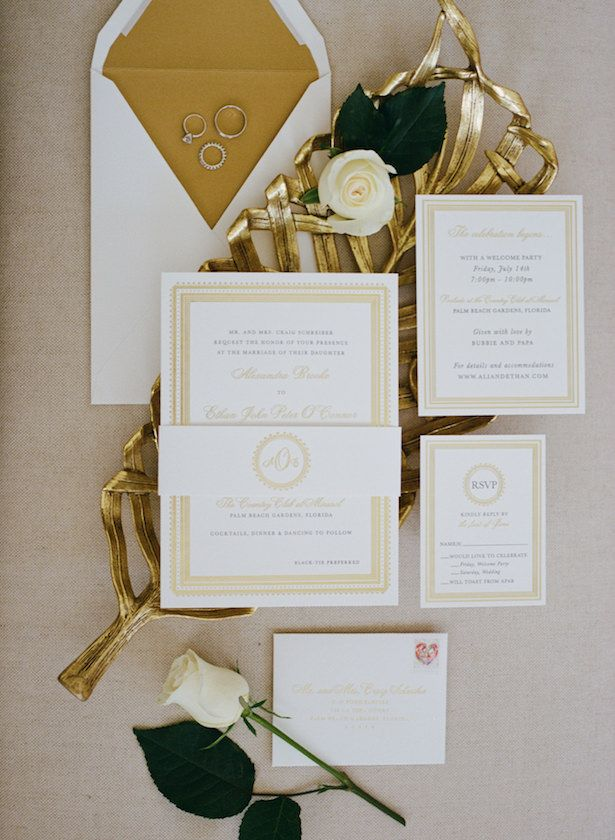 Metallic Wedding Stationary - Posh Parties - Kat Braman Photography