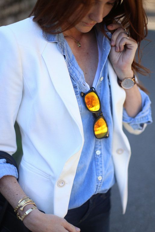 Samantha from Could I Have That in Ted Baker's MEEDA blazer
