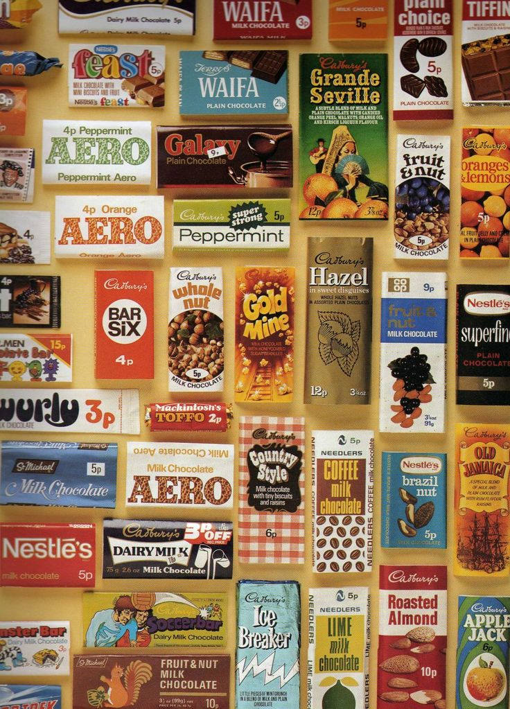early 1970's UK chocolate