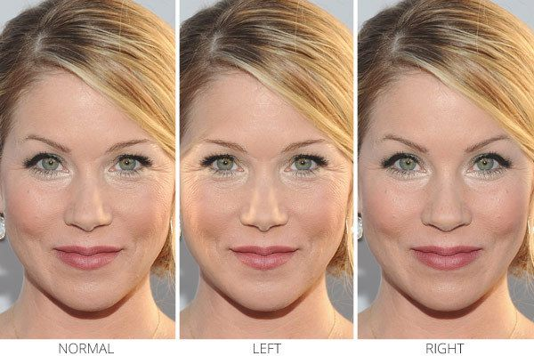 Facial symmetry and skin color think