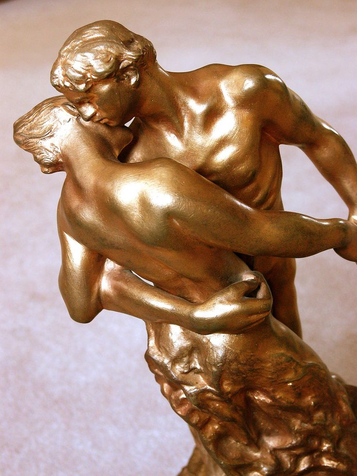 Camille Claudel: La Valse (detail), bronze - private collection