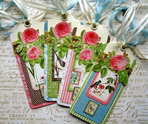 Learn how to make this beautiful set of Botanical Tea bookmarks with a fantastic tutorial from Maria Cole! Perfect for Mother's Day! #graphic45 #tutorials