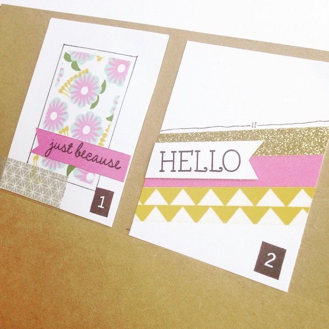 There are so many different ways you can use washi tape. 1. Give a clean edge to your stamped images but creating a simple washi tape mask. Lay the edges of the washi tape against the edges of a card & stamp inside the mask as desired. Press the tape down firmly so the ink doesn't bleed under. Remove the tape gently, at an angle so you don't tear your masterpiece!  2. Mix it up by alternating washi tape, cardstock & Shimmer Trim for a unique background.