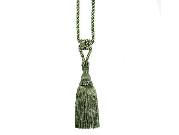 Tiffany Moss Curtain Tieback - Classic curtain tieback with end tassel in a distinctive moss green colour.