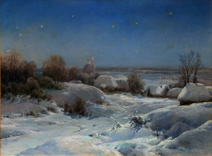 Winter Night Ivan Weltz - 1898