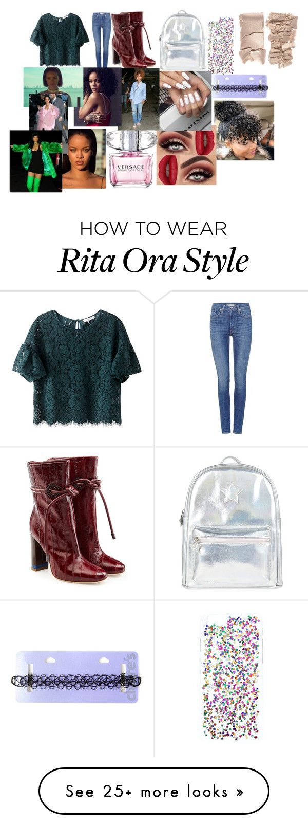 """""""Mall with Rihanna"""" by larryandtarillforeverr14 on Polyvore featuring Levi's, Accessorize, Malone Souliers and Versace"""
