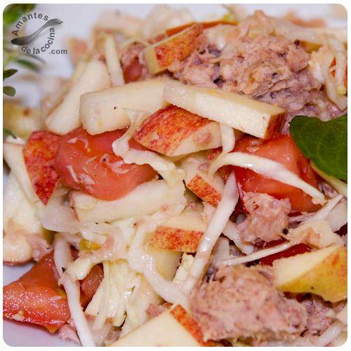 169 best images about ensaladas on pinterest bacon tes - Ensalada de arroz con atun ...