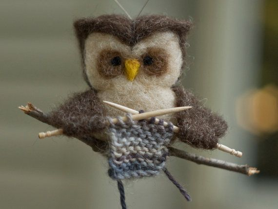 Hi hi of course I must have this little fellor sitting next to me when I knit ;): Owl Ornaments, Druty Knits, Owl Knits, Needle Felt Owl, Crochet, Knits Owl, Knits Pictures, Scratchcraft Etsy, Crafts