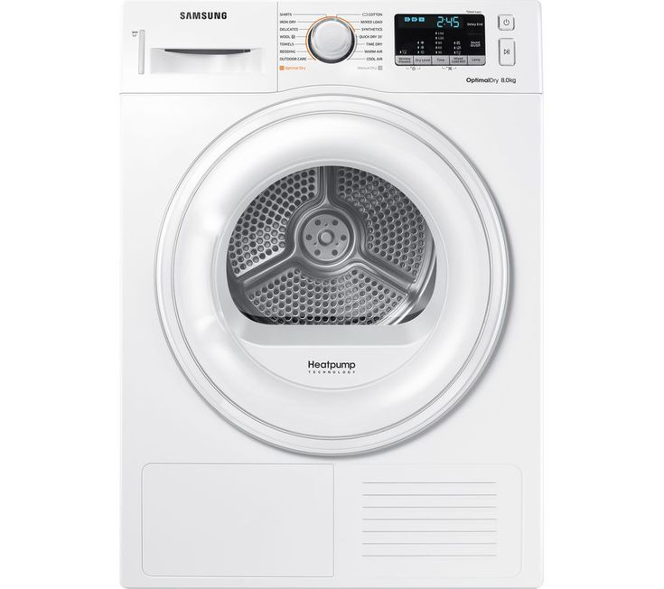 SAMSUNG DV80M50101W/EU 8 kg Heat Pump Tumble Dryer - White