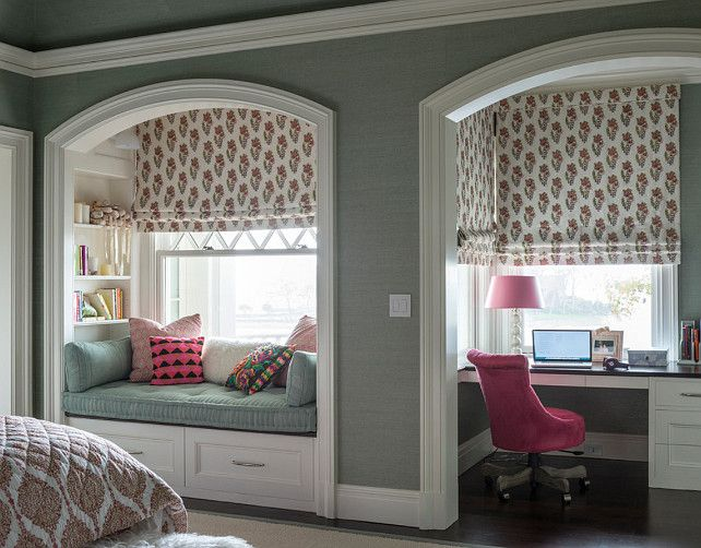 Window Seat Alcove Ideas. Kids bedroom with window seat alcove. #Windowseat #windowseatalcove