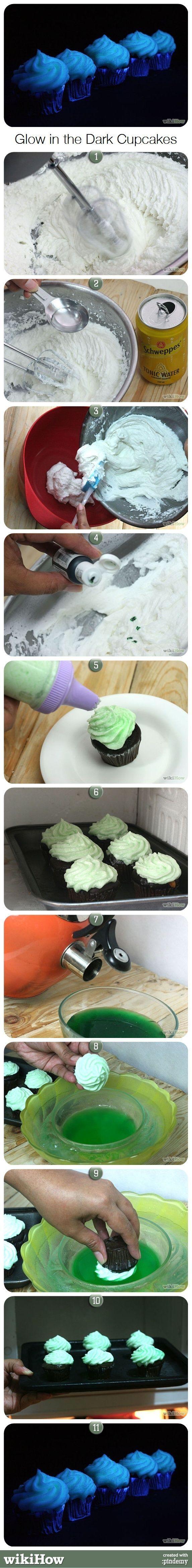 How to Make Glow in the Dark Cupcakes |  #Cupcakes #Dark #Glow #Make
