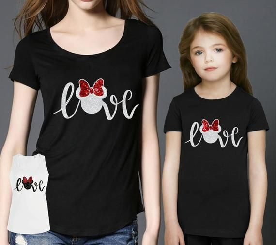 UK Family Matching Outfits T-shirt MOTHER Girl Women and Baby/'s minnie Tee Tops