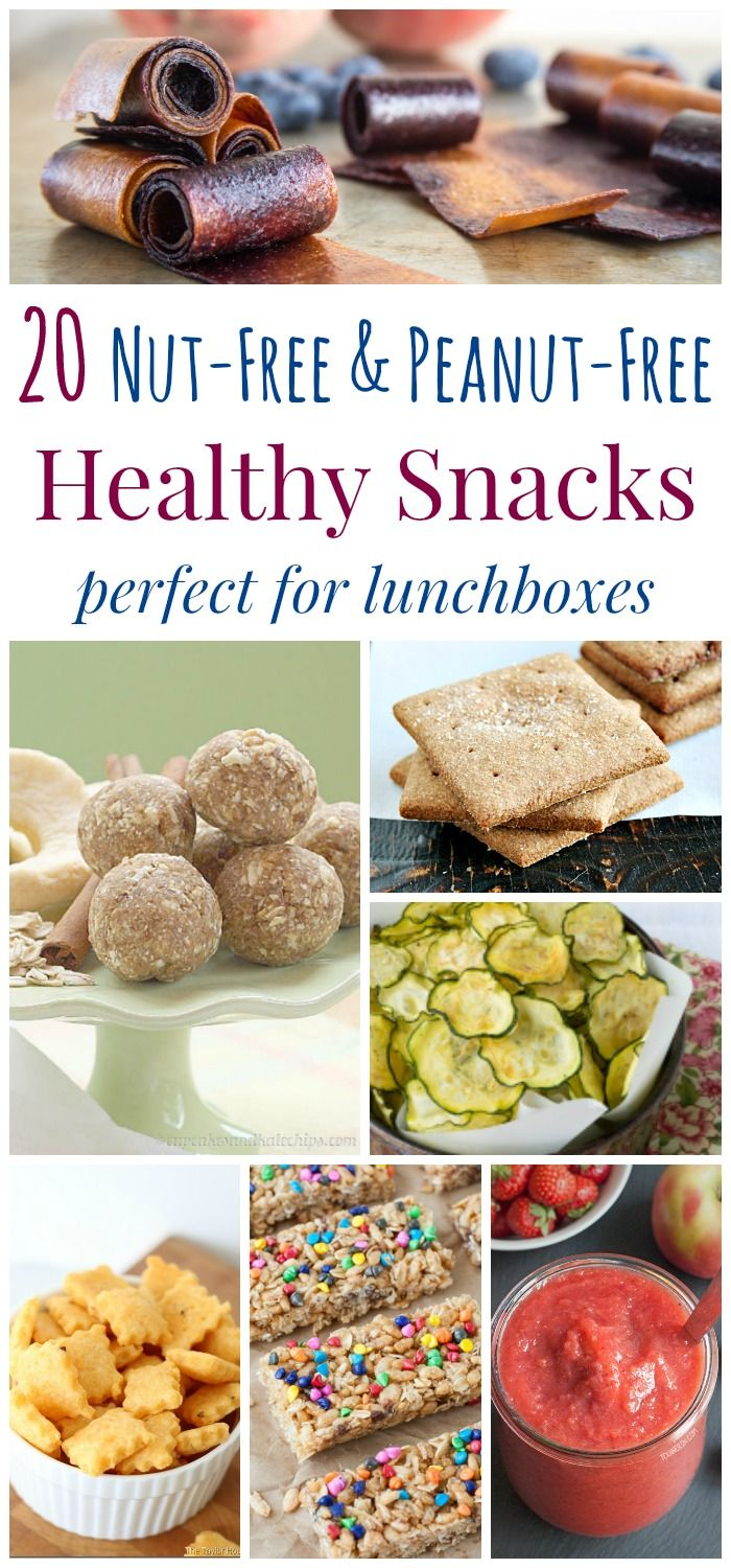 20 Nut-Free and Peanut-Free Healthy Snacks Perfect for Lunchboxes - healthy snack recipes for kids that are allergy friendly to pack in a school lunch.