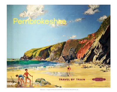 Pembrokeshire Travel by Train  Beach scene