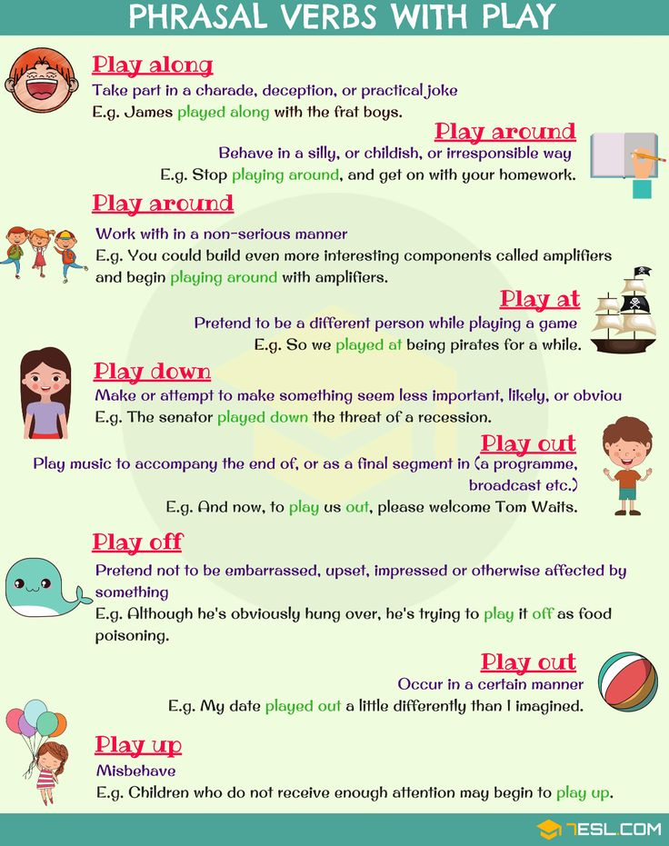 Phrasal Verbs with: Play