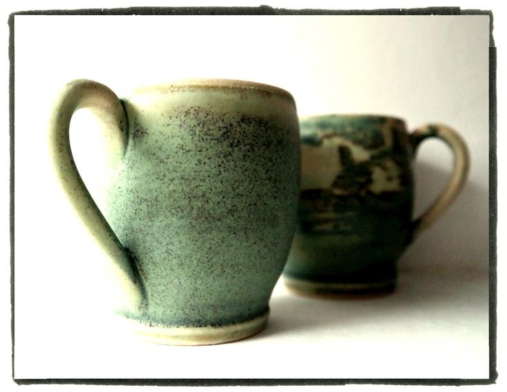 set of cups in taiga tones