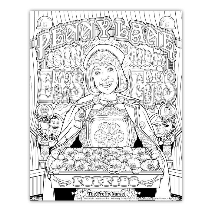 Joe Lacey Talks About His Artwork For The Crayola Signature Coloring Songbook Lyrics By Lennon Mccartney Lennon And Mccartney Lennon Coloring Pages