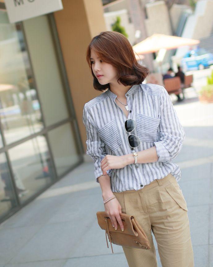 Republic of Korea reigning Women's Clothing Store [CANMART]  #koreafashionshop #fashion_pinter #pinterclothes #pintershop #Fashion_women #goodquality #goodfabric #korea #dailylook #dailyfashion #CANMART #daily_shirt #basic_shirt #stylish_shirt #popolar_shirt #korea_shirt #fashionable_shirt #women_shirt #summer_shirt #シャツ  ST China shirt / Size : FREE / Price : 34.40 USD