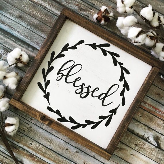Blessed Sign Fall Sign Rustic Wood Sign Thanksgiving Sign