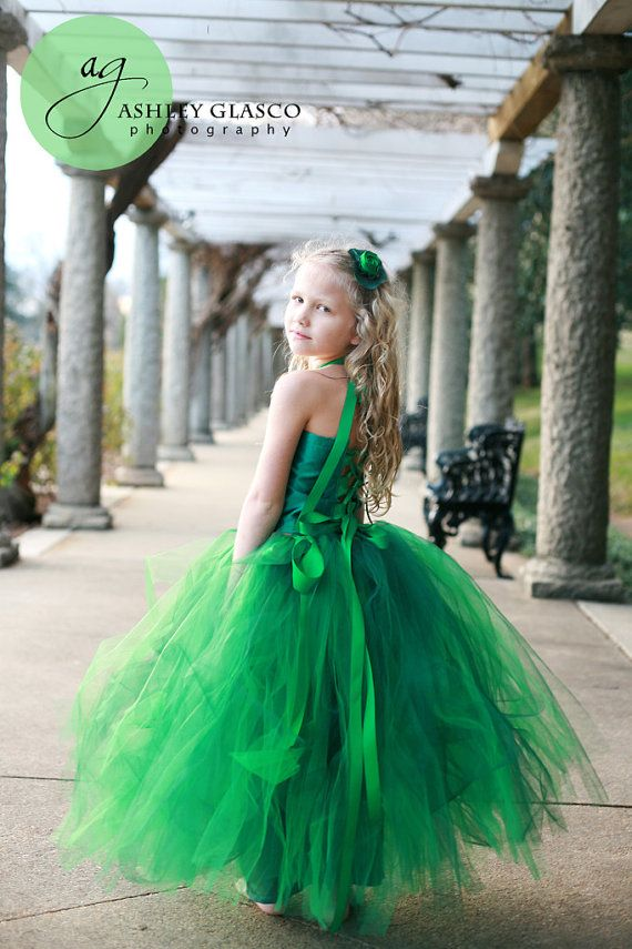 Emerald Green Flower Girl or Pageant Special by sweethearttutus, $115.00