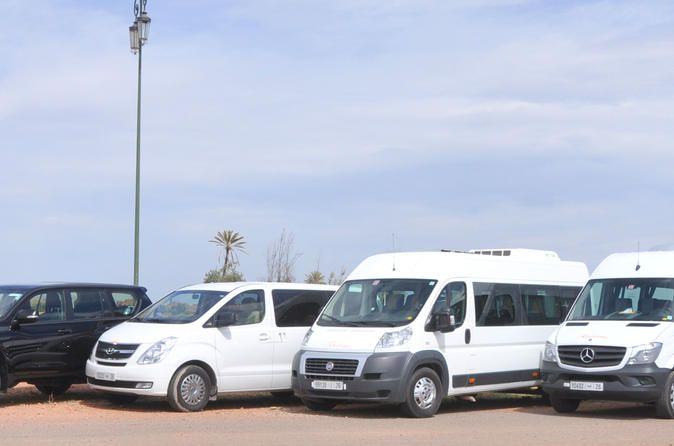 Private Arrival Transfer: Casablanca Airport to Marrakech Arrival Hotel Transfer from Casablanca airport to Marrakech with private deluxe van. You will meet your driver to take you from Casablanca Airport to Marrakech.A perfect option whether you're travelling individually, with a partner or in a group, for business or for pleasure . Your experienced driver will pick you up from Casablanca airport to take your accommodation in Marrakech. The transfer can take up to 2.5 hours o...