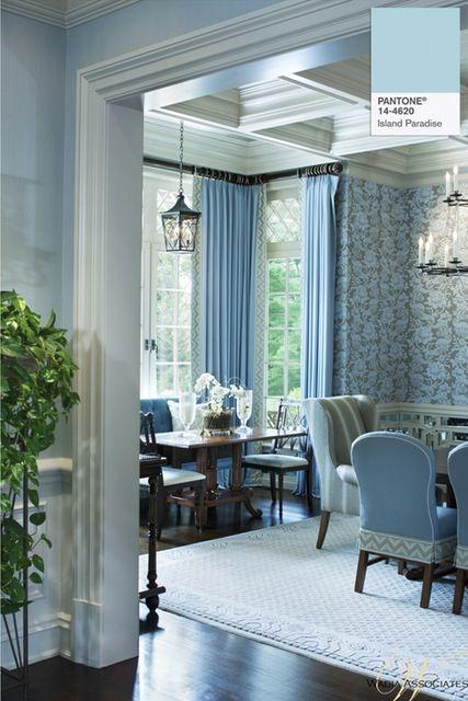 Blue Dining Room Beauteous Design Decoration