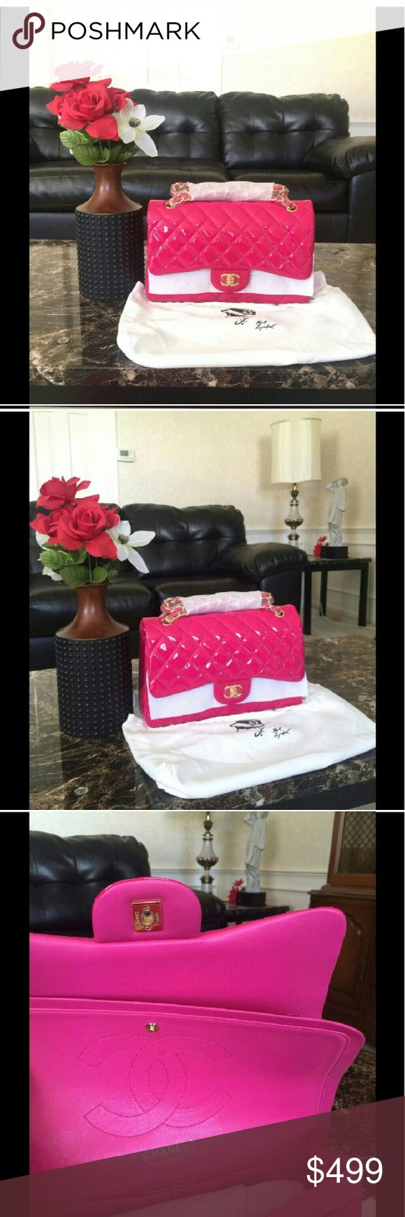 Chanel jumbo bag Dark pink chanel jumbo flap bag. Price reflects auth. This price is fixed on here and cheaper on p. A. Y. P. A. L. No trades! Bags Shoulder Bags