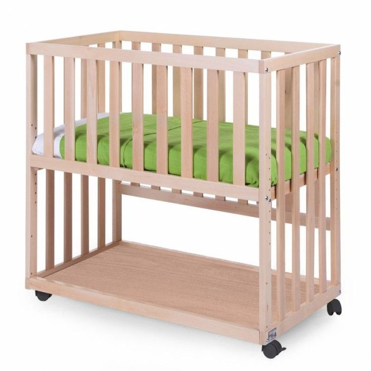 Baby Bedside Crib Newborn Cot Bed Wooden Bedroom Adjustable Co Sleeper Wheels