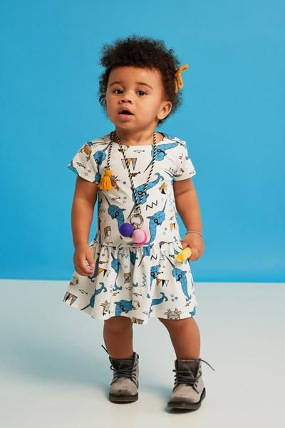 Everyone loves Narwhals, right? The unicorn of the sea with a side dose of some crabs rock this dress. From Raspberry Republic offered by Modern Rascals.