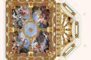 Дизайн-проект спальни в стиле рококо. План плафона: Лепнина и живопись.