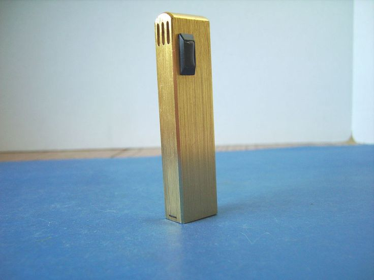 Lighter Electronic Push Button Brushed Gold Colour Finish Made by Piza