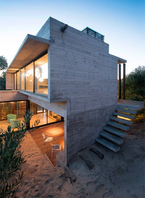 Casa MR on the Argentinian coastline by local architect Luciano Kruk.