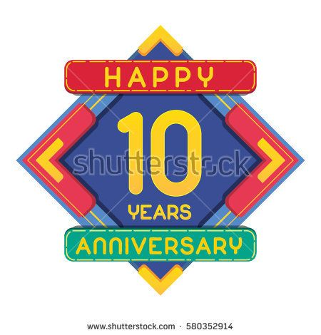 10 Years Anniversary Celebration Design.