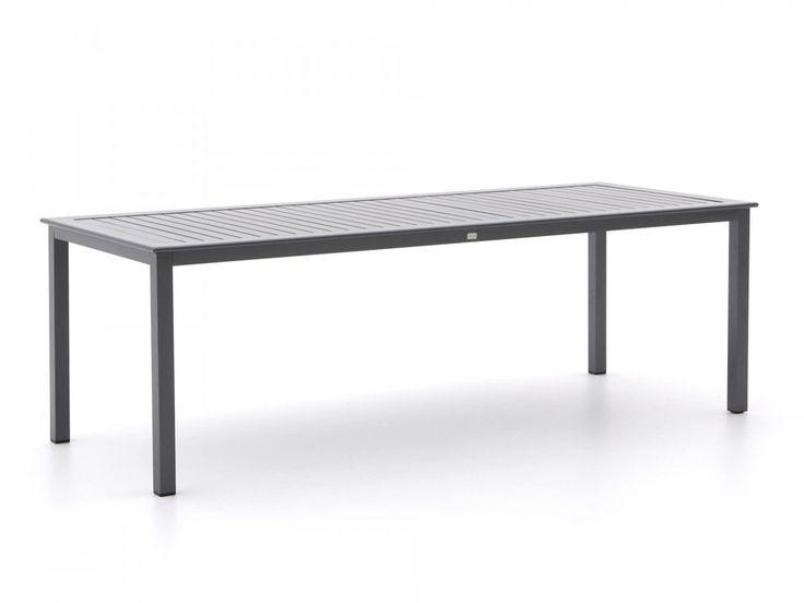 Grijze lange tafel voor buiten van aluminium