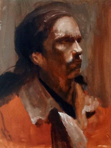 #JeanPaulMallozzi 's quick study, #oil on canvas #portrait, #contemporary #painting. @jpmallozziart
